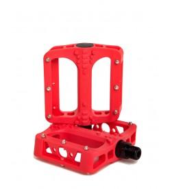 Pedales Plataforma El Gallo Eco Fiber Rojo