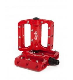 Pedales Plataforma El Gallo Components Eco2 Rojo