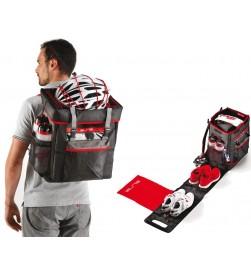 Mochila Bolsa Elite Tri Box Negro/Rojo para Triathlon/Duathlon