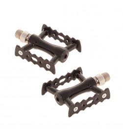 Mini-pedales plataforma pista/fixie aluminio negro FK212