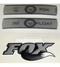 Kit Pegatinas Adhesivos Horquilla Fox Float 32 Fit RL Blanco 10