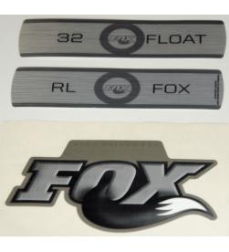 Kit Pegatinas Adhesivos Horquilla Fox Float 32 Fit RL Titanium 10