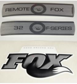 Kit Pegatinas Adhesivos Horquilla Fox 32 F-Series Remote Blanco 2010