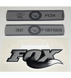 Kit Pegatinas Adhesivos Horquilla Fox 32 Fit RL F-Series Blanco 2010