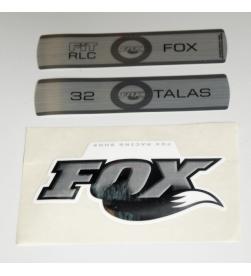 Kit Pegatinas Adhesivos Horquilla Fox 32 Talas RLC Blanco 10