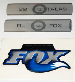 Kit Pegatinas Adhesivos Horquilla Fox 32 Talas RL Azul 10