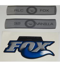 Kit Pegatinas Adhesivos Horquilla Fox Vanilla RLC Negro 09