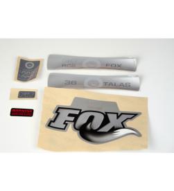 Kit Pegatinas Adhesivos Horquilla Fox 36 Talas Fit RC2 10 Gris
