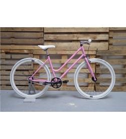 Bicicleta Paseo Chica Rosa Blanco