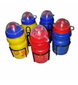 Bidón con tapa + Portabidón Infantil 350ml Colores