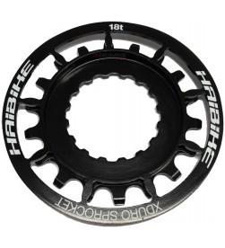 Piñon XDuro para motor Bosch E-Bike 18 dientes Negro(Acero Inoxidable)