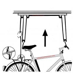 Soporte Elevador Bicicleta Techo