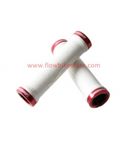 Puños Msc Lock-On Blancos Abrazadera Roja