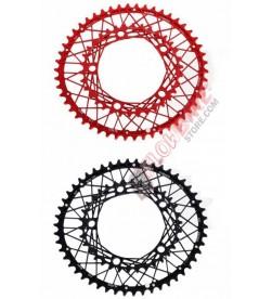 Platos KCNC Cobweb rojo/negro para MTB