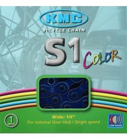 Cadena KMC BMX S1 Azul Metalico