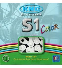 Cadena KMC BMX S1 Blanco
