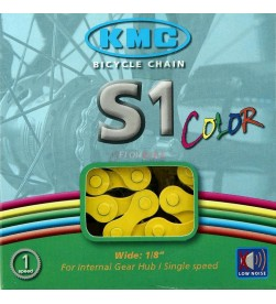 Cadena KMC BMX S1 Amarillo