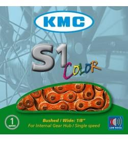 Cadena KMC BMX S1 Naranja