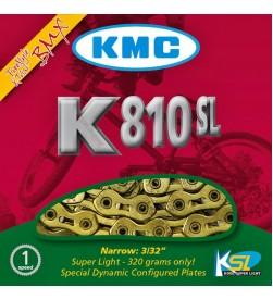Cadena KMC K810SL - 7,7mm - 116 eslabones