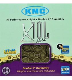 Cadena KMC X-10L Oro 10v. - 5,88mm - 112 eslabones