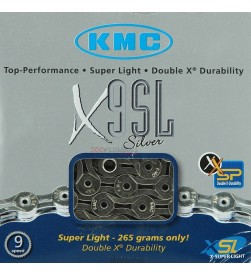 Cadena KMC X-9SL Silver 9v. - 6,6mm - 116 eslabones