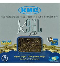 Cadena KMC X-9SL oro 9v. - 6,6mm - 116 eslabones