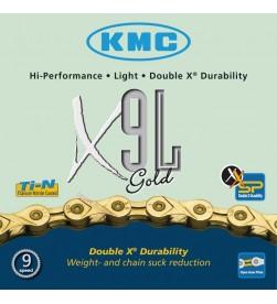 Cadena KMC X9L Gold 9v. - 6,6mm - 116 eslabones