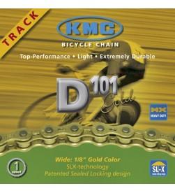 Cadena KMC D101 Pista (Color oro)
