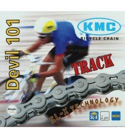 Cadena KMC D101 Pista (Color plata)