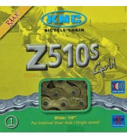 Cadena KMC Z510G Oro BMX color dorado para 1 velocidad