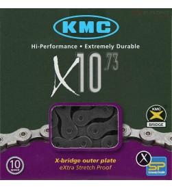 Cadena KMC X10.73 Plateada 10v