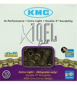 Cadena KMC X10EL Dorada 10v.