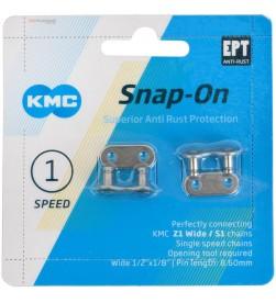 Pack 2 Eslabon rapido cadena 1v KMC niquelados