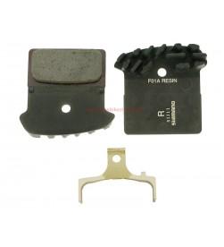 Pastillas Freno Resina Shimano SLX, XT, XTR, Alfine con Disipador J02A