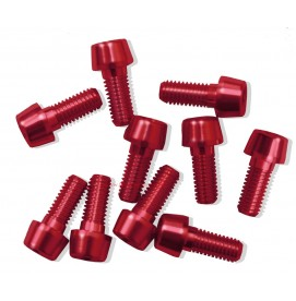 Tornillo Aluminio MSC M5 Rojo (Varias longitudes)