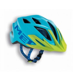 Casco Met Crackerjack Cyan/ Verde