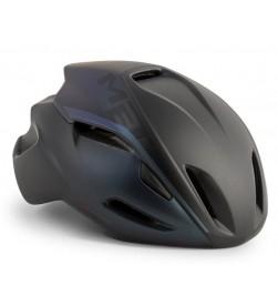 Casco Met Manta Negro iridiscente