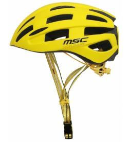 Casco Carretera MSC Bikes inmold Amarillo con Luz