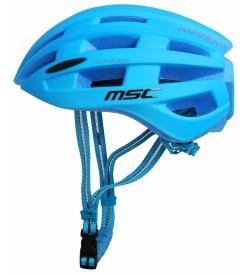 Casco Carretera MSC Bikes inmold Azul con Luz