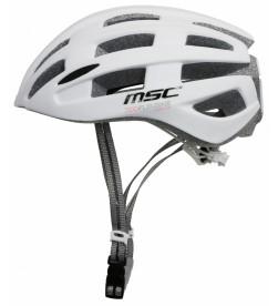 Casco Carretera MSC Bikes inmold Blanco con Luz