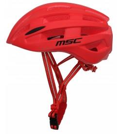 Casco Carretera MSC Bikes inmold Rojo con Luz