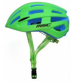Casco Carretera MSC Bikes inmold Verde con Luz