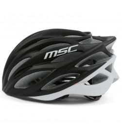 Casco Carretera inmold MSC Bikes HM15 Negro-Blanco