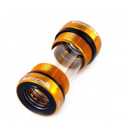 Cazoletas pedalier MSC roscadas BSA 68/73mm para Shimano - Doradas