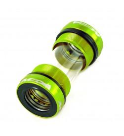 Cazoletas pedalier MSC roscadas BSA 68/73mm para Shimano - Verdes