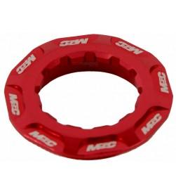 Cierre Cassette MSC Aluminio Rojo CNC 12d