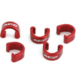 Clips sujetacables MSC Rojo (Pack 5)