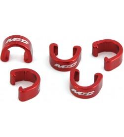 Clips sujetacables MSC Rojo (Pack 5)