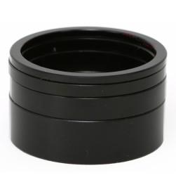 """Espaciadores Dirección MSC Aluminio 1,1/8"""" (2, 3, 5 y 10mm) Negras"""