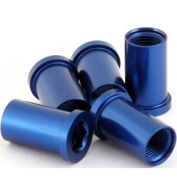 Hembra MSC M8x16/18mm Aluminio Azul (Unidad)